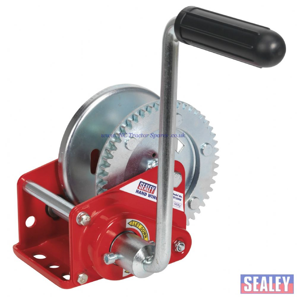 Geared Hand Winch with Brake 540kg Capacity